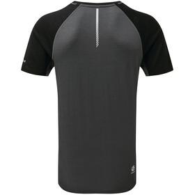 Dare 2b Conflux T-Shirt in lana Uomo, ebony grey marl/black/aluminium grey